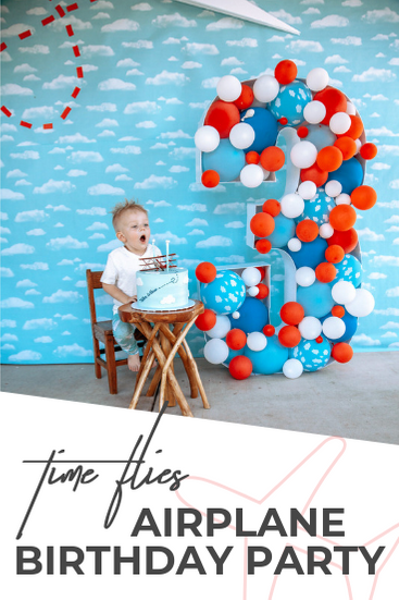 Time sure flies! Planning an airplane party and want to wow your guests? Check out how we focused on a few main decor pieces to make this airplane birthday party take off. The Skys the limit!