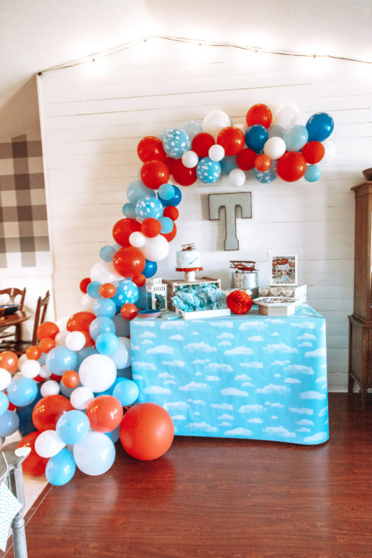 Red white and blue cake table