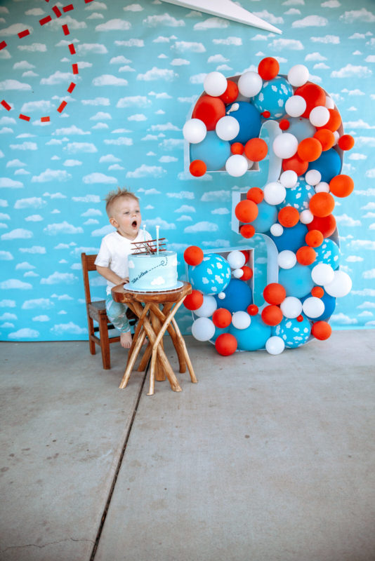 Tate turns Three, Birthday Cake, Airplane Party Cake