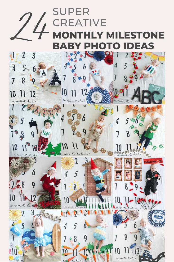 Creative Monthly Milestone Baby Photo Ideas