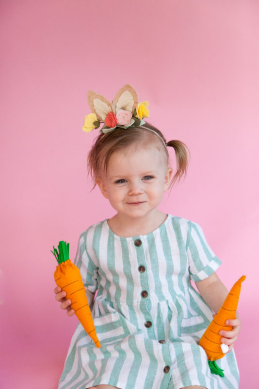 Somebunnies two! baby girl's second birthday photoshoot. Bunny themed photoshoot