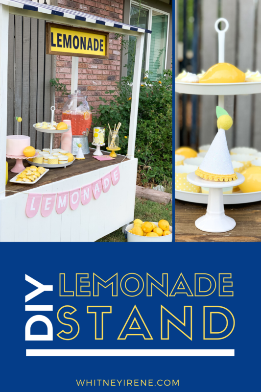 If you're looking to build a DIY Lemonade Stand here is some great inspiration for you! Your kids will love having a little lemonade stand of their own and you'll love styling darling photoshoots with this multi-use stand!