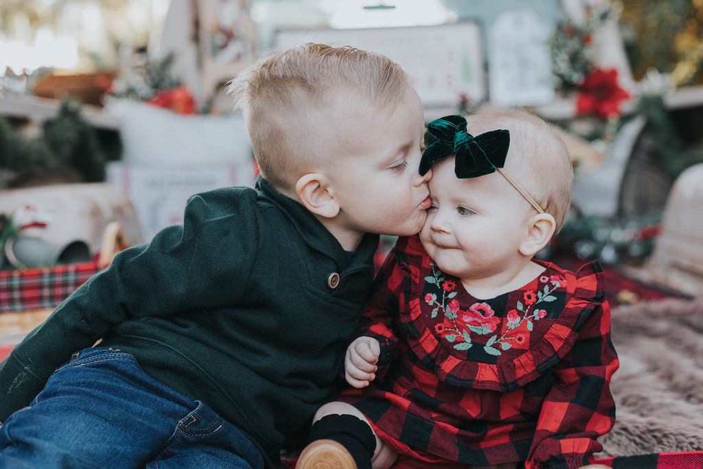 Christmas Photos | Brother & Sister | Siblings