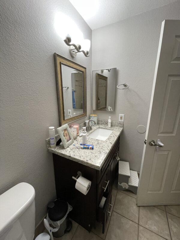 Bathroom Refresh Before Photo